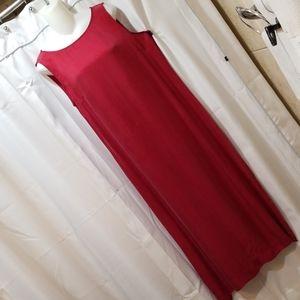 Liz Claiborne red sleevless maxi dress Size 12
